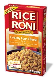 Rice A Roni Outlet sale feature Creamy Four Cheese Oakland Mall 6.4oz Pack o Flavored Box