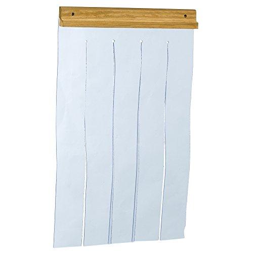 Ferplast Puerta para casetas de Exterior de Perros Modelos Domus Large, BAITA 80 y Canada 4, PVC Transparente contra la Lluvia, el Viento y el frío, Negro, 32 x h 52 cm