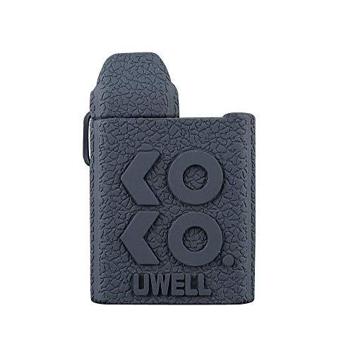 DSC-Mart Texture Cover for Uwell Koko Silicone Case, Uwell Caliburn Koko Protective Rubber Sleeve Skin Shield (Black)