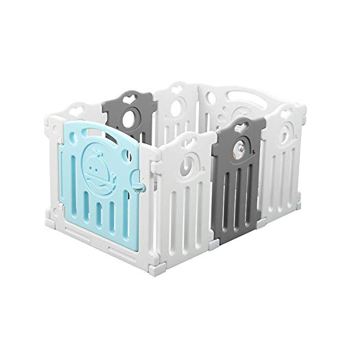 Fantastic Deal! LLAAYY Bed Rails Baby Playpen Baby Crawling Mat Toddler Fence Safety Fence Indoor Game Playground for Kids (Edition : 6 Fences+1 Game bar+1 Door bar)
