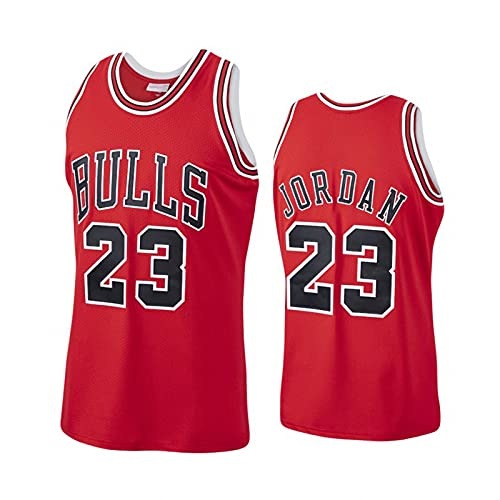 GQTYBZ Camiseta de Baloncesto de la NBA, Chicago Bulls # 23 Michael Jordan Uniforme para Fanáticos del Baloncesto Camiseta con Chaleco de Tela Transpirable Fresca, Camiseta Deportiva Sin Mangas