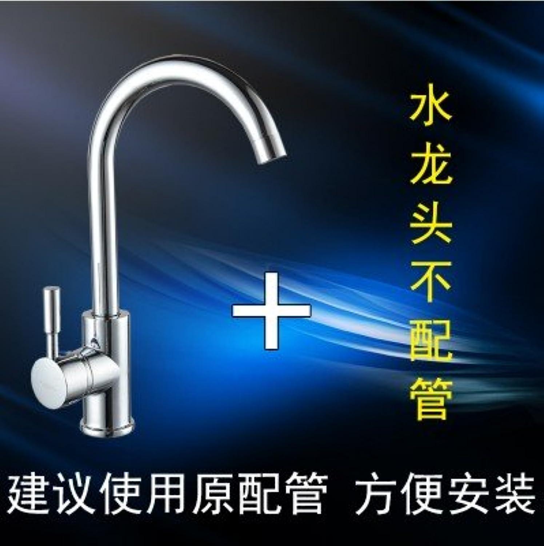 ETERNAL QUALITY Badezimmer Waschbecken Wasserhahn Messing Hahn Waschraum Mischer Mischbatterie Tippen Sie auf Küche Wasserhahn warme und kalte Speisen im gesamten Kupfer Waschbecke