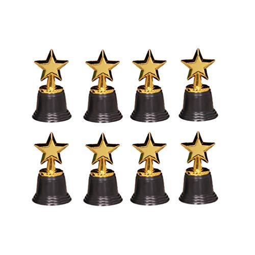 Holibanna 8 Piezas Mini Tazas de Trofeo de Premio de Oro Trofeo de Estrella premios de plástico Ganador trofeos de Premio Fiesta de niños favores Suministros