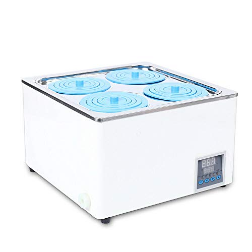 KDHARMR Electric Lab Water Bath 4Hole Digital Thermostatic Display Constant Temperature Capacity 800W 12L(US Stock)