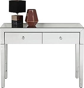 Kare Design Konsole Luxury, Highboard mit 2 Schüben, verspiegelter Schminktisch, Kosmetiktisch, Luxus Konsole, Luxus Schminktisch, (H/B/T) 77x100x40cm