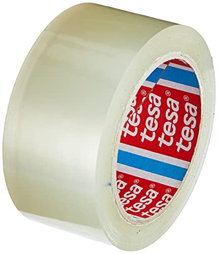 tesapack Solid und Strong - leise abrollbares Paketband / Packband zum sicheren Verschließen von Paketen. Verfügbar in: Transparent und Braun