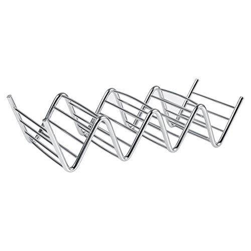 Soporte para tacos - 1 soporte práctico para tacos con forma de 4 ondas Estante de comida de acero inoxidable conchas duras Herramientas de cocina