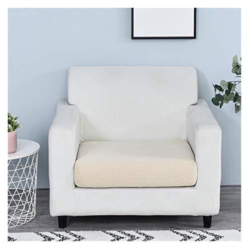 Color sólido Sofá Asiento Cojín de cojín Cubierta de silla Protector de muebles Polar Fleece Jacquard Threar Stretch Desmontable Descubridor ( Color : Color 5 , Specification : 1PC Length 135 165cm )