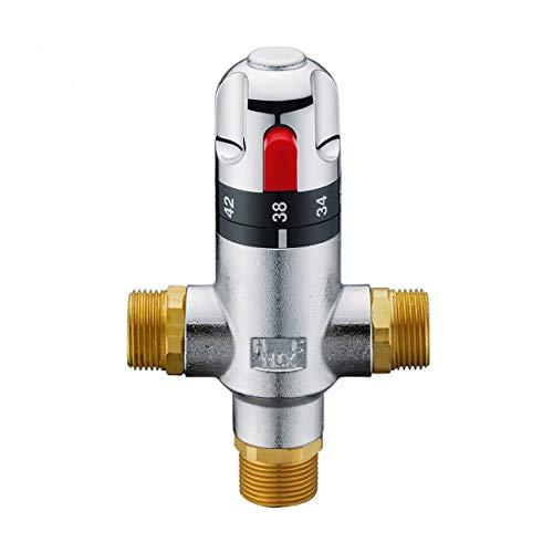 Válvula de Mezcla Termostática Especificaciones Conexiones masculinas Temperatura del agua Ajustar la válvula de tubería de la válvula de mezcla termostática de 3 vías con tres Para Sistema de Ducha