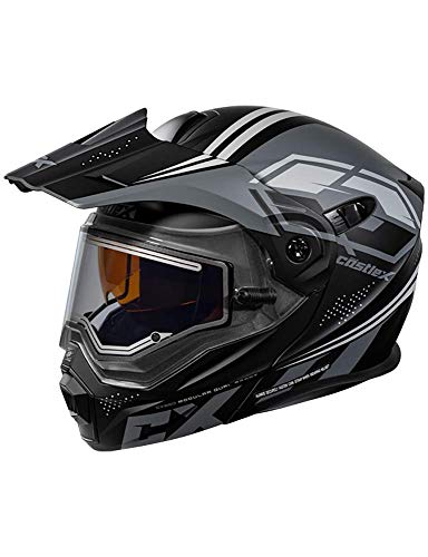Castle X EXO-CX950 Siege Modular Electric Snowmobile Helmet in Black/Charcoal Size Large