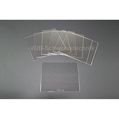10 x Vorsatzscheiben Automatik Schweißhelm: 115 x 104 x 1 mm