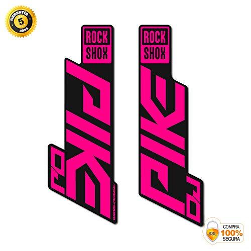 Aufkleber Gabel für Fahrrad Modell Bike Rock Shox Pike DJ 2020 Sticker Bike Rock Shox Fork Decals Original Rosa neon