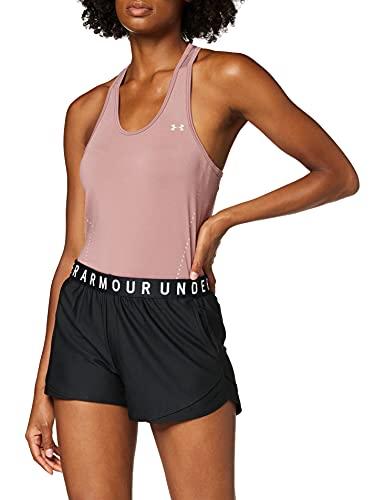 Under Armour Play Up Shorts 3.0 Corto, Mujer, Negro (Black/Black/White), M