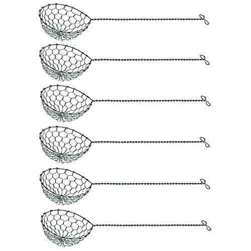 Spring 2698310006 fondue zeefjes 6 stuks, roestvrij staal, zilver, 4,5 x 6 x 6 cm