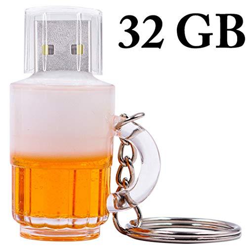 Justdolife Blitz Fahrt Kreatives Bierglas Form Schnelle Übertragung USB Antriebs Daumen Antrieb