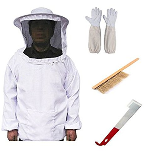Yardwe Beekeeping Bee Keeping Suit Jacket Gloves Bee Hive Brush Tools Beekeeping Supplies Queen...