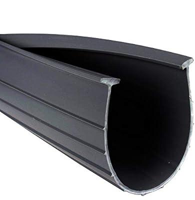 "3"" Garage Door Bottom Seal Weatherstrip in Black - 1/4"" T Style - All Widths (20 Foot)"