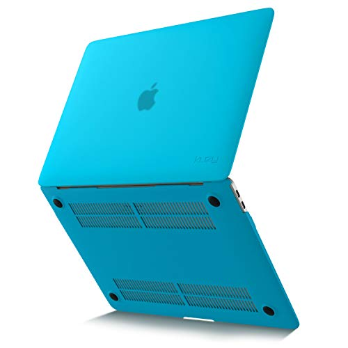 Kuzy MacBook Air 13 inch Case 2020 2019 2018 Release A2337 M1 A2179 A1932 Non-Slip, Fully Vented Plastic Hard Shell Cover for 13 inch MacBook Air Case Retina Display, MacBook Air 2020 Case, Aqua