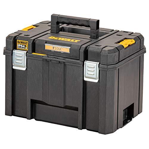 Dewalt TSTAK Tiefe Werkzeugbox VI, DWST83346-1 (44l Volumen, großvolumige Box, kombinierbar mit anderen TSTAK-Boxen, sichere Verwahrung von Elektrowerkzeugen und Handwerkzeugen, IP54)