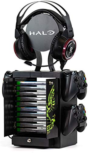 Numskull Official Halo Game Storage Tower, Controller Holder, Headset Stand for PS4, Xbox One, Nintendo Switch - Official Halo Merchandise (Xbox Series X///)