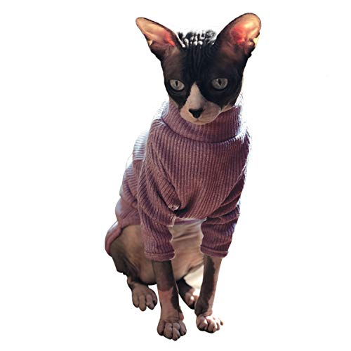 Breathable Adorable Cat Wear Shirt sweater Pajamas Jumpsuit for Sphynx, Cornish Rex, Devon Rex, Peterbald