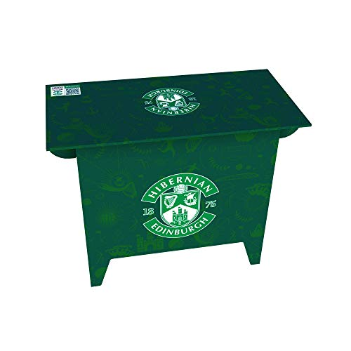 FunDesks Pop-up Cardboard Desk for Home Office and Home Study – Hibernian FC Design. Strong and Easy to Build – No Tools Required. Eco-friendly 100% Recyclable Cardboard Desk (740h x 500w x 980 mm)