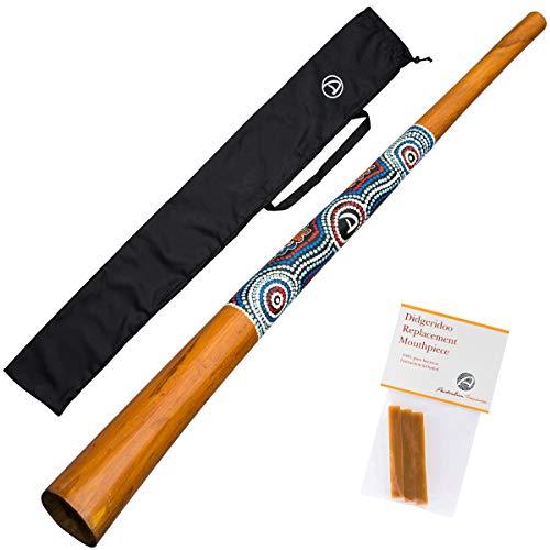 Australian Treasures - HOLZ DIDGERIDOO: 130cm - Bienenwachs - Didgeridootasche - unsere Empfehlung für alle Einsteiger