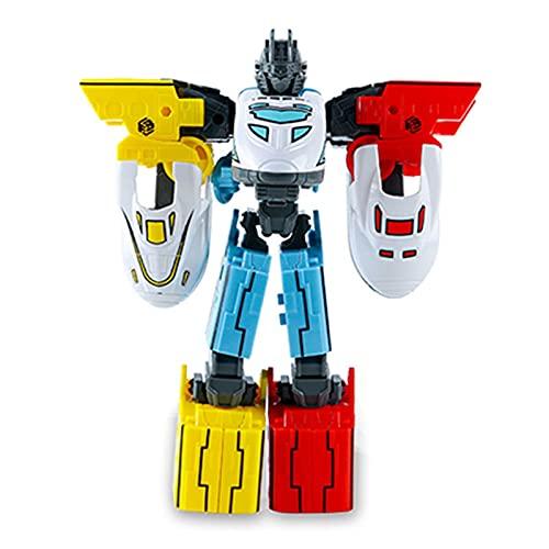 WAWAYU Juguetes de deformación, Tren deformando el Robot de Tres en uno Modelo de Rompecabezas ensamblado Juguete para niños