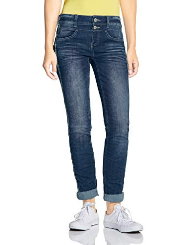 Street One Damen 372474 Jane Casual Fit Slim Jeans, Blau (Blue Indigo Authentic wash 11996), 38 /L32 (Herstellergröße:30)