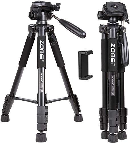 ZoMei Q111 58 Zoll Portable Light Weight Traveller Stativ mit Pan Head Kamera Stativ Professional Camcorder für DSLR DV schwarz
