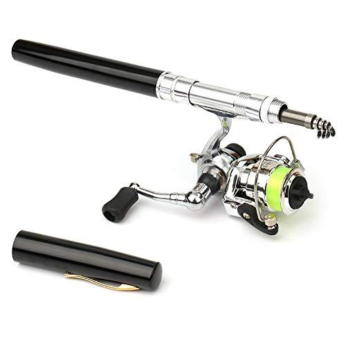 LIXADA ペン型ロッド スピニングリール 釣りロッド 魚竿 渓流竿 万能竿 超軽量 持運び便利 伸縮可能 携帯型 釣り用 初心者釣り 上級者釣り 1M / 1.4M / 1.6M 色/サイズ選択可