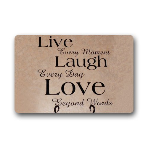 Pale Caramel Ambesonne Live Laugh Love Decor Shower Curtain 70 inches Macro Calligraphy Life Message Inspirational Digital Graphic Fabric Bathroom Decor Set with Hooks