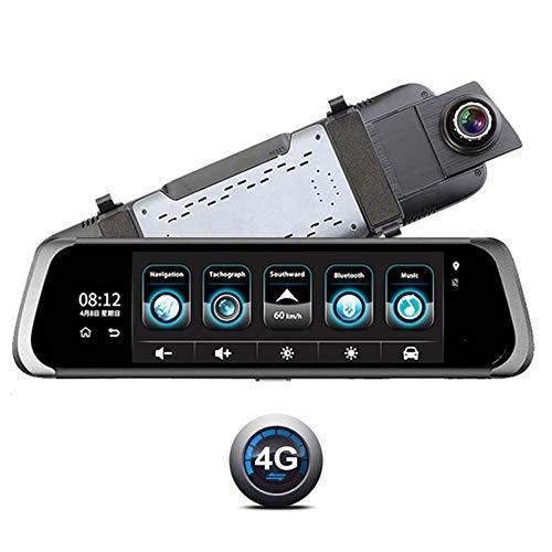 WYLDDP Camara espia para Coche, 8,0' Touch Camera Lens Doppio Specchio retrovisore schermo, Dash telecamera a Bordo,Hatchback, SUV, camion, Van, MPV, Furgone