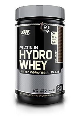 OPTIMUM NUTRITION Platinum Hydrowhey Protein Powder, 100% Hydrolyzed Whey Protein Isolate Powder