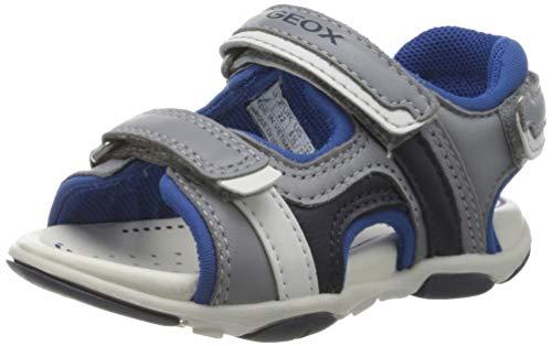 Geox B AGASIM Boy C Sandalen, Grau (Grey/Royal C0069), 23 EU