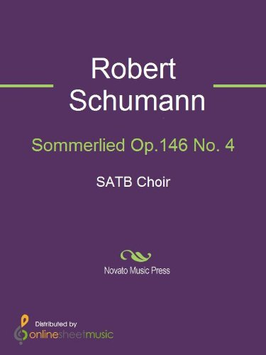 Sommerlied Op.146 No. 4 - Score (English Edition)