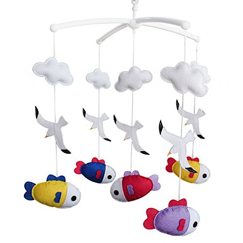 Crib Musical Mobile White Baby Mobile Baby Mobiles For Cree