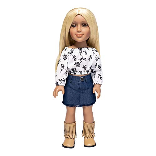 I'm A Girly Fashion Doll Zoe w/ Golden Blonde Interchangeable Removable Synthetic Wig to Style - Fashionista Model Figure for Kids 8+ Years - 18