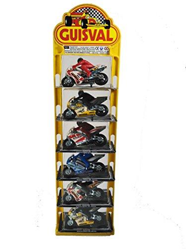 Guisval- Set de 6 piezas, Moto Competición (Faseba 16147) , color/modelo surtido
