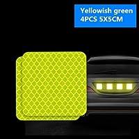 4 個警告マーク反射テープユニバーサルエクステリアアクセサリー車のドアステッカースバルフォレスターアウトバックインプレッサ XV BRZ-ライトグリーン