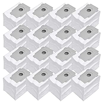 Dhoua 16 Pack Dirt Disposal Bags Replacement Compatible with iRobot Roomba i3+ 3550 ,i6+ 6550  i7 7150  i7+/Plus 7550  i8+ 8550 ,s9 9150  s9+ 9550  Clean Base Robot Vacuum Cleaner