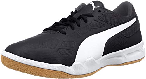 PUMA Unisex Tenaz Jr Multisport Indoor Schuhe, Black White-Iron Gate-Gum, 39 EU