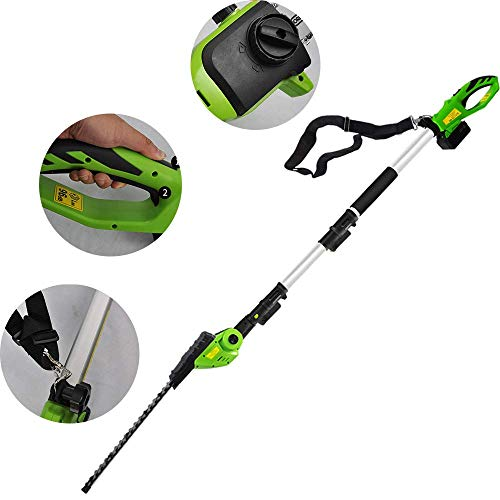 Best Review Of Gyj&gyt Cordless Pruning Shear Hedge Trimmer, Telescopic Rod Lithium ion high-Altitud...