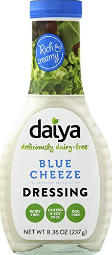 Daiya Blue Cheeze Dressing, 100% Dairy Free ::  Rich & Creamy Salad Dressing ::  Vegan, Gluten Free, Non GMO :: Sharp Tangy Flavor For Pouring or Dipping, 8.36-Oz. (2 Pack)