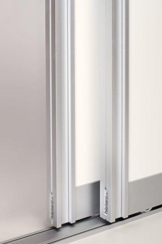 Schiebetürbausatz inkl. Aluminium Rahmentyp A | Inkl. Beschläge für 2 Türen, max. Flügelmaße: 1068 x 2700 mm | Füllung kommt von Ihnen | Boden- und Deckenschiene in 2000 mm
