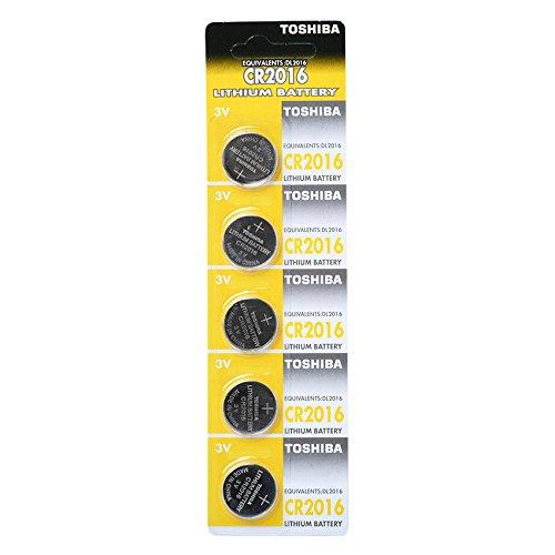 Toshiba CR2016 Lot de 5 piles au lithium 3 V