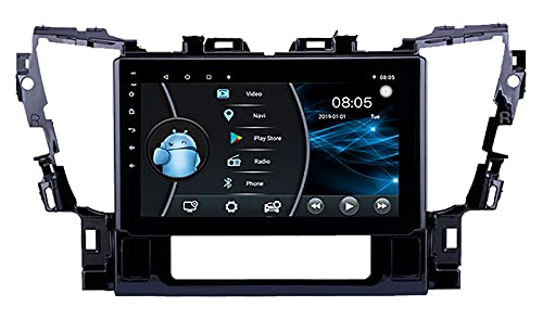 AEBDF Android 10 Sat Nav para Toyota Alphard/VELFIER 2015, Pantalla táctil estéreo de 10 Pulgadas Radio Táctil GPS Navegación WiFi Mirror Link,4Core WiFi 2+32G