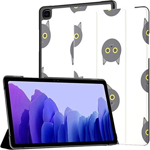 Funda protectora para Samsung Galaxy Tab A7 de 10,4 pulgadas de 2020, diseño de gato británico, color amarillo