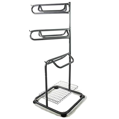 BACKYARD EXPRESSIONS PATIO · HOME · GARDEN 909094 3 Three Tier Saddle Rack, Grey