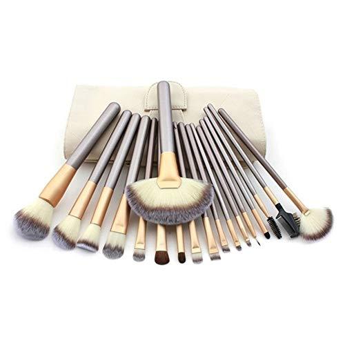 18 Pinceau de Maquillage Professionnel Ensemble, Haute Qualité Peau Douce Brosse Ombre à Paupières Brosse Fondation Brosse Poudre Libre Blush Pinceau Maquillage Outils de Maquillage